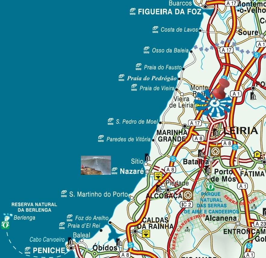 mapa praias centro portugal Quinta Alves de Matos   Turismo Rural de habitação para Férias  mapa praias centro portugal